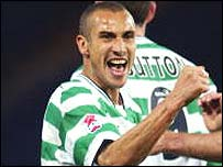 Celtic striker Henrik Larsson