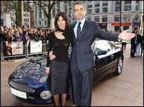 Rowan Atkinson with wife Sunetra