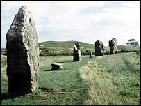Avebury Stone Circle in Wiltshire