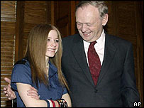 Avril Lavigne with Canadian Prime Minister Jean Chretien