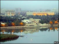 The main presidential palace on the banks of the Tigris