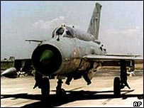 MiG-21 fighter jet as used by the Indian Air Force
