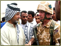 Local residents welcome British troops in Basra