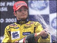 Giancarlo Fisichella at the Brazilian Grand Prix