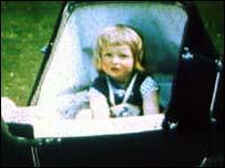 Princess Diana in her Silver Cross pram