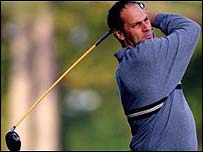 Sir Steve Redgrave playing golf