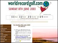 Screen grab of worldrecordgolf.com