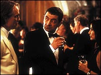 John Malkovich, Rowan Atkinson and Natalie Imbruglia in Johnny English