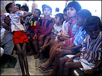 Boy severely affected by fluorosis at clinic in Andhra Pradesh