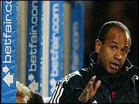Fulham manager Jean Tigana