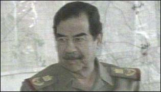 Close up of Saddam Hussein