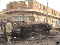 Damage in Baghdad