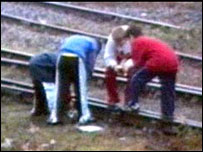 Children on railway line