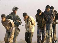 Iraqis surrender to US forces