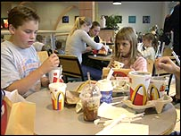 Inside a McDonald's restaurant
