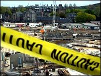 Scottish Parliament building construction