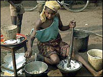 Poverty-stricken Nigerian woman
