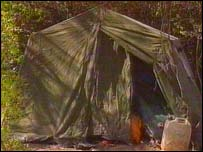 Josef Stawinoga's new tent in Wolverhampton