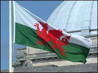 Welsh flag in Cardiff (picture courtesy of freefoto.com)