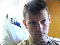 Stuart Hughes in hospital