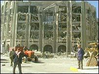 Damaged building in Baghdad