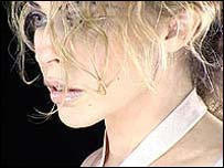 Kylie Minogue as she appears in the video