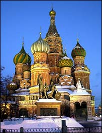 St Basil cathedral in Moscow, BBC