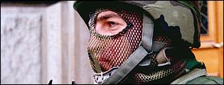 A member of Serbia's Gendarmerie, anti-terrorist police