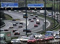 The M25-M4 junction near Heathrow