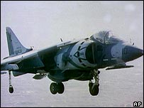 US AV 8 Harrier jet