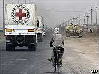Red Cross vehicle in Basra