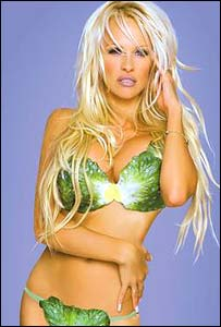 Pamela Anderson in a pro-vegetarian advert