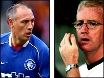 Former Rangers striker Mark Hateley (left) and ex-Celtic boss Tommy Burns