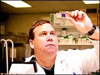 A scientist at Liverpool's John Moores University