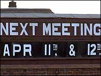 Meetings board at Ayr