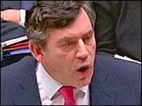 Gordon Brown delivering the Budget