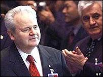 Former Yugoslav leader Slobodan Milosevic