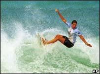 Hawaiian surfer, AP