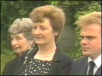 Members of Private Kelly's family at the funeral