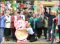 Villagers celebrate Nellie's return