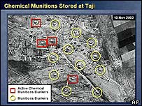One of the satellite photographs used by Colin Powell on 5 February in his speech to the UN Security Council