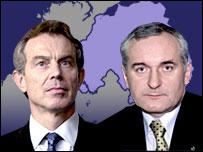 Tony Blair a Bertie Ahern