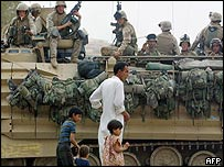 US Marines in Baghdad