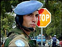 Peacekeeping soldier in East Timor