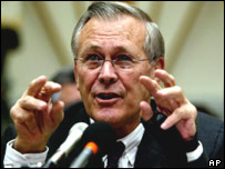 US Defence Secretary Donald Rumsfeld