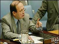 Mohammed al-Douri, Iraq's ambassador to the UN