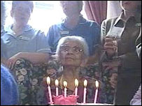 Lucy on her 110th birthday