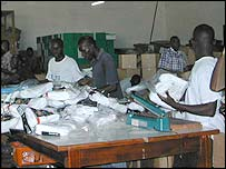 Sock factory at Tema