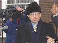 Mohammed al-Douri leaving New York residence