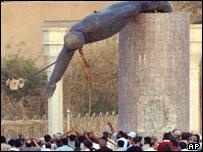 Statue of Iraqi President Saddam Hussein